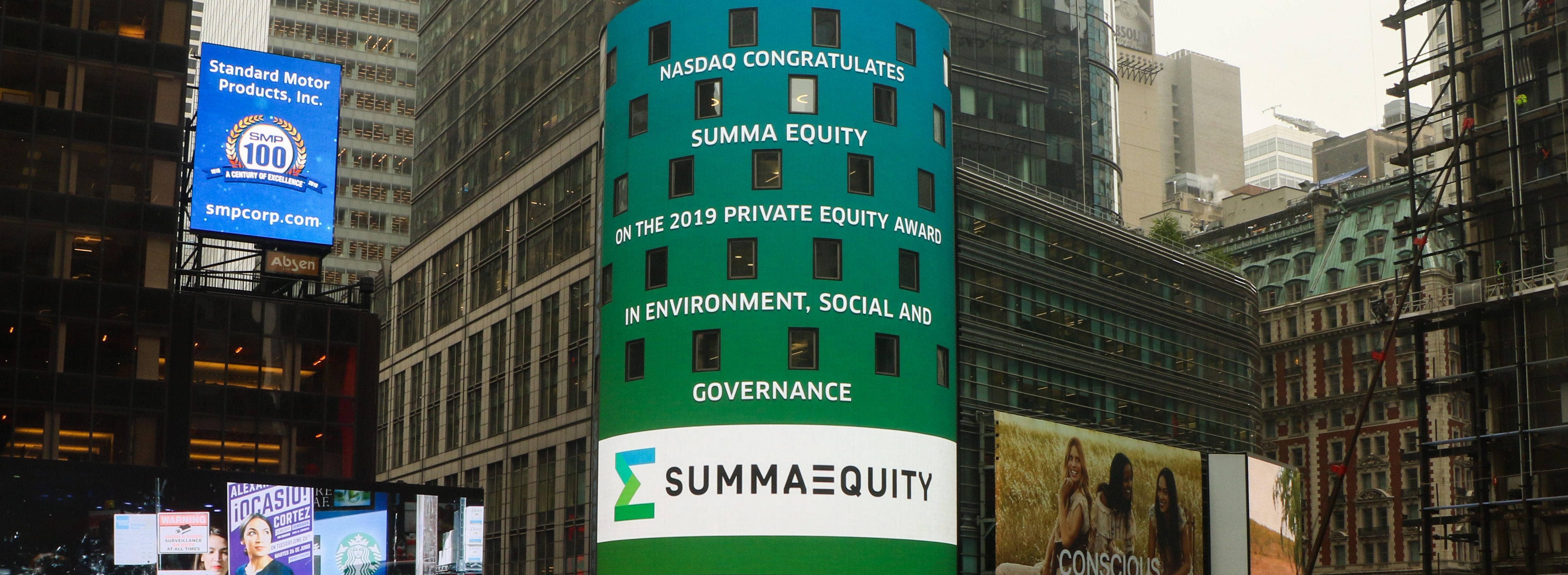 Summa Equity wins ESG Award at the Private Equity Awards 2019